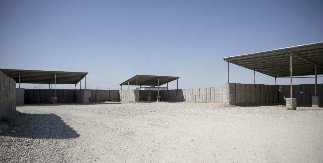 Endes des Bundeswehr-Einsatzes in Afghanistan: das verlassene Camp Marmal (Foto: pa/Kraatz)
