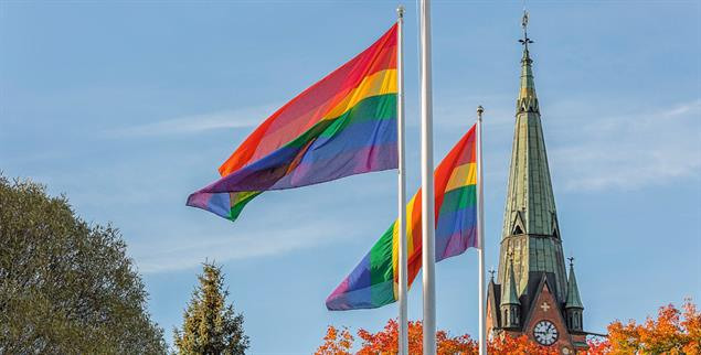 Regenbogen-Flaggen als Zeichen der Solidarität mit queeren Menschen. (Foto: istockphoto/NiklasEmmoth)