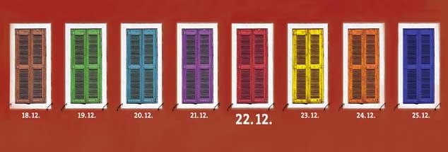 """Nur noch wenige Tage, dann ist Weihnachten: Was sich wohl hinter diesem Adventsfenster vom 22. Dezember verbirgt? Machen Sie´s doch einfach mal auf! Klicken Sie dafür auf das Wörtchen """"mehr"""". (Foto: Jonathan Stutz/Fotolia.com, mod.)"""