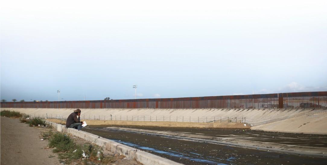 Unüberwindlich: Blick auf den Grenzwall von mexikanischen Stadt Tijuana (Foto: pa /Reuters/Mckay)
