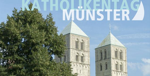 »Keinen! Frieden! Mit der AfD!« Nicht weit vom Dom, vor dem Stadtmuseum in Münster, zieht der Demonstrationszug vorbei. (Foto: pa/dpa/Robert B. Fishman)