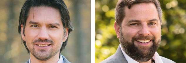Streiten über die Zukunft des Waldes: Torsten Welle und Christoph Rullmann (Fotos: Naturwald Akademie; www.sdw.de)