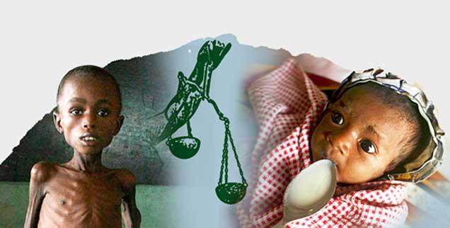 Hungern nach Gerechtigkeit: Für viele Menschen hat die Ungerechtigkeit der Welt ganz konkrete Auswirkungen. (Fotos: pa)