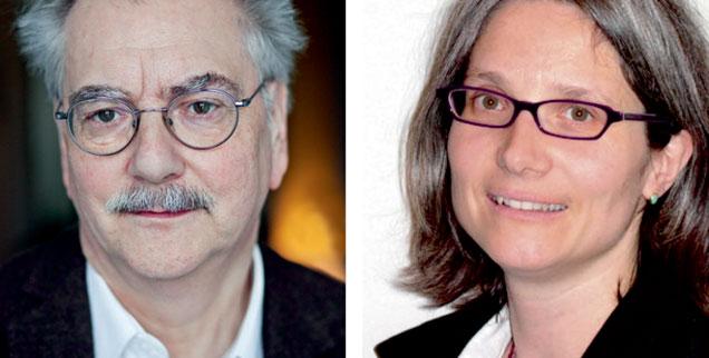 Sollte es eine soziale Dienstpflicht für alle geben? Wolfgang Kessler (links) sagt: »Ja!« Andrea Teupke (rechts) sagt: »Nein!« (Fotos: Publik-Forum)