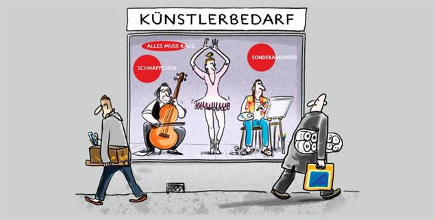In der Krise zeigt sich, welchen Stellenwert die Kultur tatsächlich besitzt (Illustration: pa/Grolik)