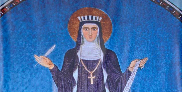 Hildegard von Bingen konnte einfach alles: Naturkunde und Musik, Philosophie und Theologie, Kochen und Debattieren, Bauen und Beten - für die Männer war sie ein Problem. (Foto:pa/abaca/Vandeville Eric)