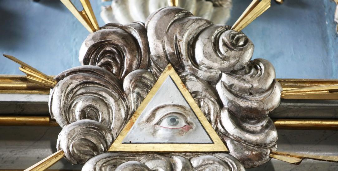 Das Auge im Dreieck: Symbol für Gottes Allwissenheit (Foto:picture alliance / BSIP)
