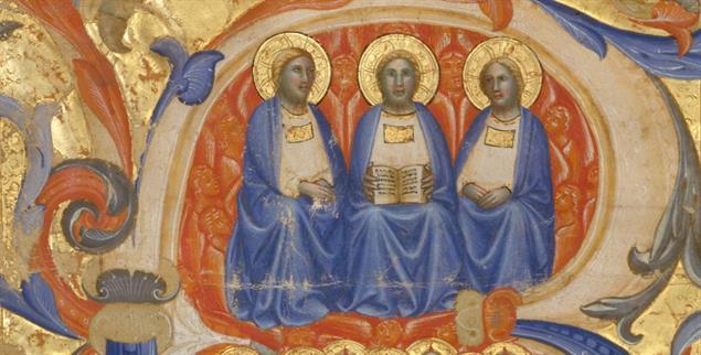 Die Trinität in einer Buchminiatur aus dem 14. Jahrhundert (Foto:pa/Heritage Images)