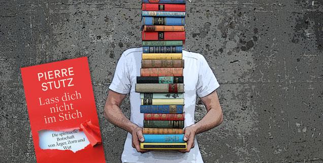 Wohin mit dem täglichen Ärger, der stillen Wut? Norbert Copray bespricht das neue Buch von Pierre Stutz, das Antwort auf diese Frage gibt. (Foto: luxuz:.photocase.de; Litho: Patmos Verlag)