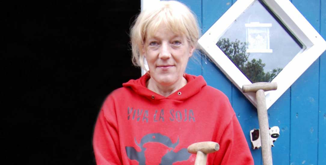 Viva la Soja: Karin Mück isst keine Tiere, sondern kämpft dafür, dass sie leben können (Foto: Udo Taubitz)