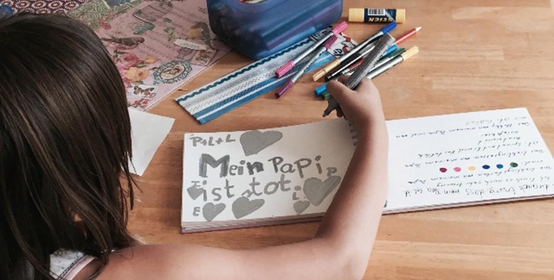 Malen, schreiben, sprechen: Der Verein Wolfsträne hilft Kindern dabei, ihre Trauer zu verarbeiten (Foto: Wolfsträne e.v.)