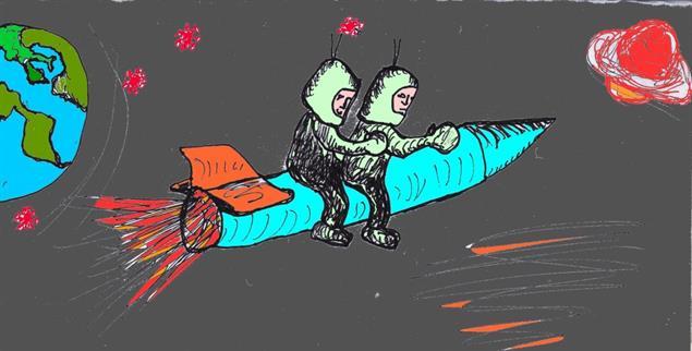 Corona zum Trotz: Diese Erde bleibt unser Heimatplanet! (Karikatur: Aloys Baumeister)