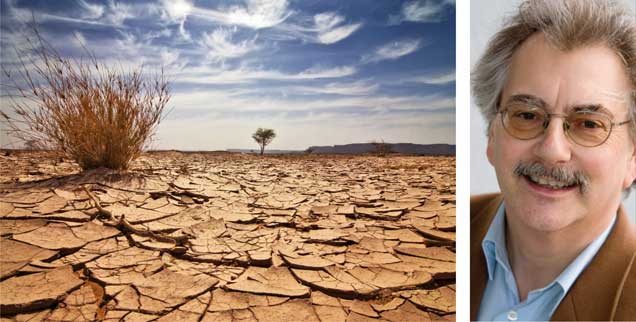 Gegen Erderhitzung hilft keine Wachstumsideologie: Wolfgang Kessler (rechts) sieht die GroKo in der Dauerkrise, weil sie das Ruder nicht herumreißt. (Fotos: istockphoto/E+; privat)