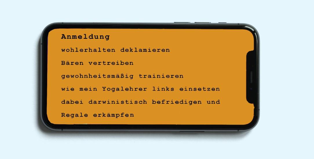 »Anmeldung«: Für dieses Gedicht hat Julia Nakotte das Urheberrecht. Hat sie es frei geschrieben oder hat da eine Maschine mitgemischt? Die Auflösung erfahren sie unten. Es entstammt der Anthologie: Poesie.exe – Texte von Menschen und Maschinen, herausgegeben von Fabian Navarro. Satyr Verlag 2020. 120 Seiten. 14€. (Foto: istockphoto/grinvalds)