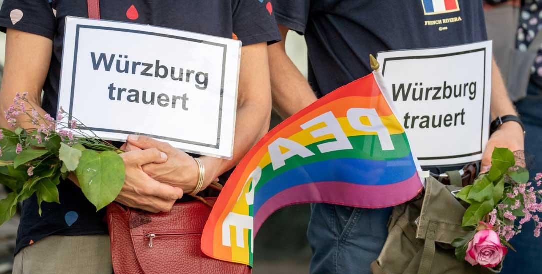 Nach der Schreckenstat von Würzburg (Foto: PA/DPA/Daniel Karmann)