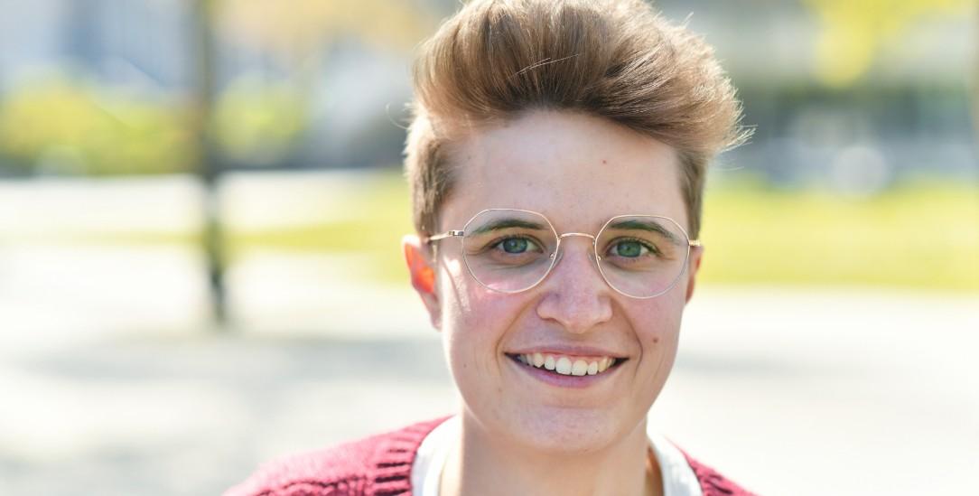 Jung und digital: Anna-Nicole Heinrich, die neue Präses der Synode (Foto: ped/Tino Lex)