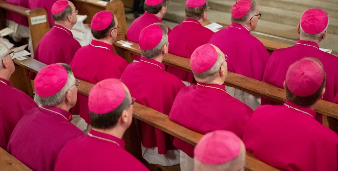 Gespanntes Verhältnis zu Rom: Deutschlands katholische Bischöfe während einer Vollversammlung. Foto: Friso Gentsch/dpa || Nur für redaktionelle Verwendung(pa/Friso Gentsch)