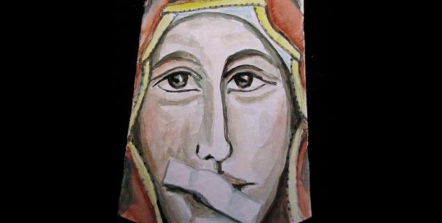 Zum Schweigen verurteilt: Marienbild von Lisa Kötter aus Münster. (Illustration: © Lisa Kötter)