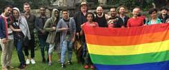 In Deutschland soll sich niemand verstecken müssen: Die Rainbow Refugees in Frankfurt unterstützen schwule, lesbische und transsexuelle Geflüchtete (Foto: Rainbow Refugees/privat)
