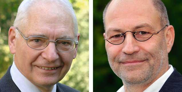 Sollte der nächste Bundespräsident direkt gewählt werden? Jens Reich (links) sagt: Ja! Ralf-Uwe Beck (rechts) sagt: Nein! (Fotos: Ausserhofer; Willms)