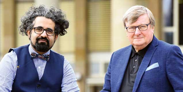 Milad Karimi, Karl-Josef Kuschel: »Wir schätzen uns glücklich, den Durchbruch zu etwas Neuem zu erleben...« (Foto: Baumann)