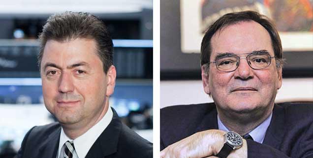 """Hilft ein Grexit Griechenland? Robert Halver (links) sagt: """"Ja!"""" Rudolf Hickel (rechts) sagt: """"Nein!"""""""