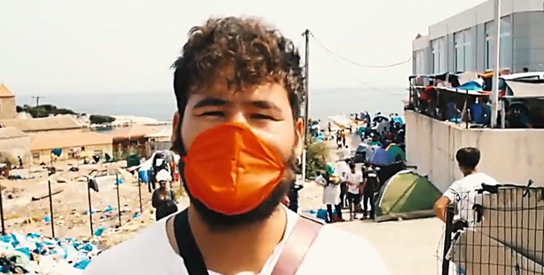 Er hofft auf Asyl in Europa: Abdul Sultani in dem Video der Hilfsorganisation Mission Lifeline (Foto: https://twitter.com/Seenotrettung)
