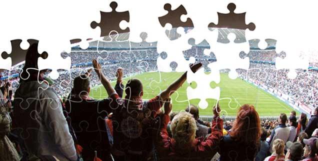 Ekstatischer Torjubel: Das Leben ist wie ein unvollendetes Puzzle, wenn ein Tor fällt, wird es für einen Augenblick ganz (Foto: pa/kosecki, Huszka/Fotolia.com)
