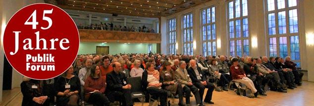 45 Jahre Publik-Forum: Im Festsaal des Frankfurter Dominikanerklosters wurde dieser Geburtstag am 29. Januar mit über 400 Gästen gefeiert. (Foto: Publik-Forum/Barbara Wetzel). Mehr Fotos in der Galerie