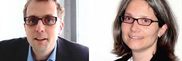 Pro und Contra Rundfunkbeitrag: Fernsehredakteur Thomas Schneider (links) hält ihn für unverzichtbar. Für Publik-Forum-Redakteurin Andrea Teupke (rechts) ist er undemokratisch und unzeitgemäß.