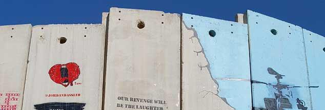Israelische Grenzanlage nahe Bethlehem: Das Leben hinter Mauern und Zäunen ist Alltag im (un)heiligen Land. (Foto: Rheinheimer-Chabbi)