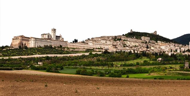 Blick auf Assisi: In der Stadt gab es im Zweiten Weltkrieg ein Netzwerk der Nächstenliebe (Foto: Getty Images/iStockphoto/benkrut)