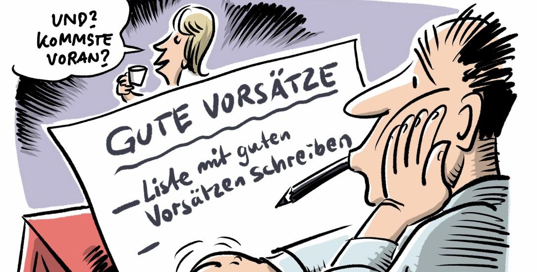 (Zeichnung: pa/dieKLEINERT.de/Schwarwel)