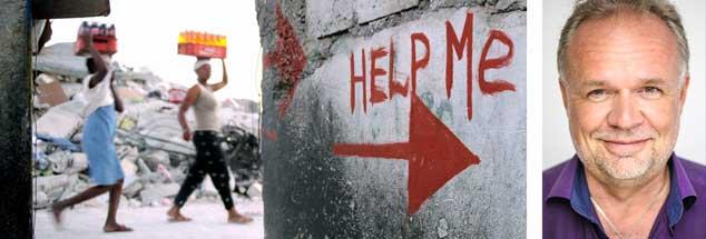 Hilfesuchende gibt es nach Naturkatastrophen, in Kriegen und Konflikten aller Art: Warum aber sind insbesondere Frauen nicht selten sexuellen Übergriffen der Helfer ausgesetzt? Kilian Kleinschmidt (rechts) hat eine Erklärung. (Fotos: pa/Shawn Stew; www.switxboard.net)  |