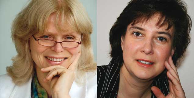 """Die Burka verbieten? Eva Baumann-Lerch (links) sagt: """"Ja! Denn der Gesichtsschleier ist ein Gefängnis."""" Britta Baas (rechts) sagt: """"Nein! Dieses Verbot ist frauenfeindlich."""""""