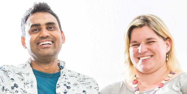 Betriebswirt Monir und Pfarrerin Carmen Khan: Dass die Kirche Ehen wie diese als Problemfall behandelt, der gelöst werden muss, ist in Zeiten religiöser Vielfalt nicht jedem einsichtig. (Foto: Thielker)