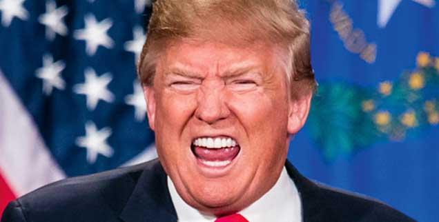 Donald Trump im Wahlkampfmodus, in diesen Tagen fotografiert in Las Vegas: Ein Mann pöbelt sich ins Herz von Millionen. (Foto: pa/GDP Photos/MPI)
