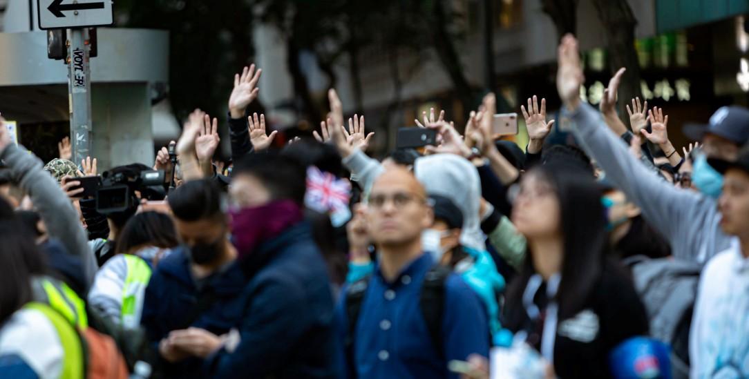 Für Freiheit und Demokratie: Hunderttausende gingen am 8. Dezember in Hongkong wieder auf die Straße. Sie werden von vielen Taiwanern unterstützt (Foto: pa/Nigro).