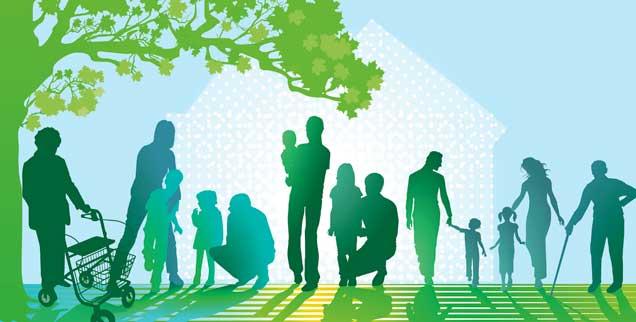 Wohnen im Alter ist vielfältiger geworden: Manche bauen sich mit anderen ein Haus, andere beteiligen sich an einer Genossenschaft oder ziehen in eine Wohngemeinschaft. Die Bereitschaft, mit anderen zusammenzuleben, wächst (Foto: scusi/Fotolia)