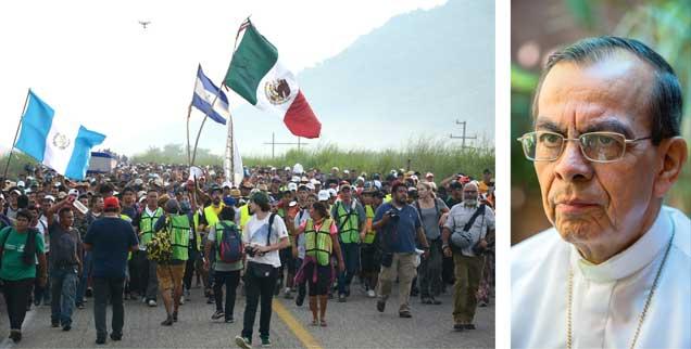 Tausende Migranten aus Honduras, El Salvador und Guatemala ziehen auf ihrem Weg in Richtung USA durch Mexiko. Kardinal Gregorio Rosa Chavez berichtet von ihrer schwierigen Situation und der Unterstützung durch die Kirche (Fotos: pa/Alvarado; Adveniat/Pohl)