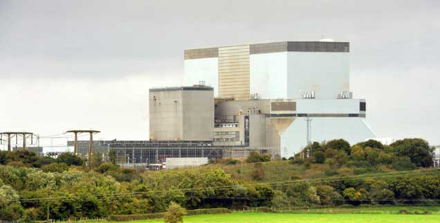 In Somerset, an der Südwestküste Englands, soll das neue Atomkraftwerk in den kommenden zehn Jahren entstehen, dort sind bereits zwei Reaktoren in Betrieb (Foto: pa/Simon Chapman/LNP)