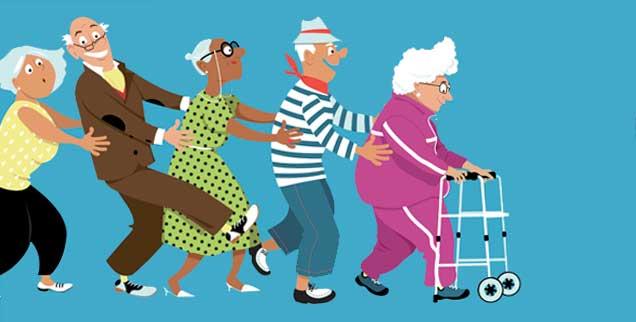Gemeinsam statt allein leben wollen viele Menschen im Alter. Modellprojekte zeigen, wie Hürden überwunden werden können (Illustration: istockphoto/Aleutie)