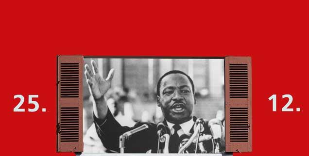 Martin Luther Kings Ziel: gewaltlos zu gewaltigen Veränderungen zu gelangen. (Foto: pa)