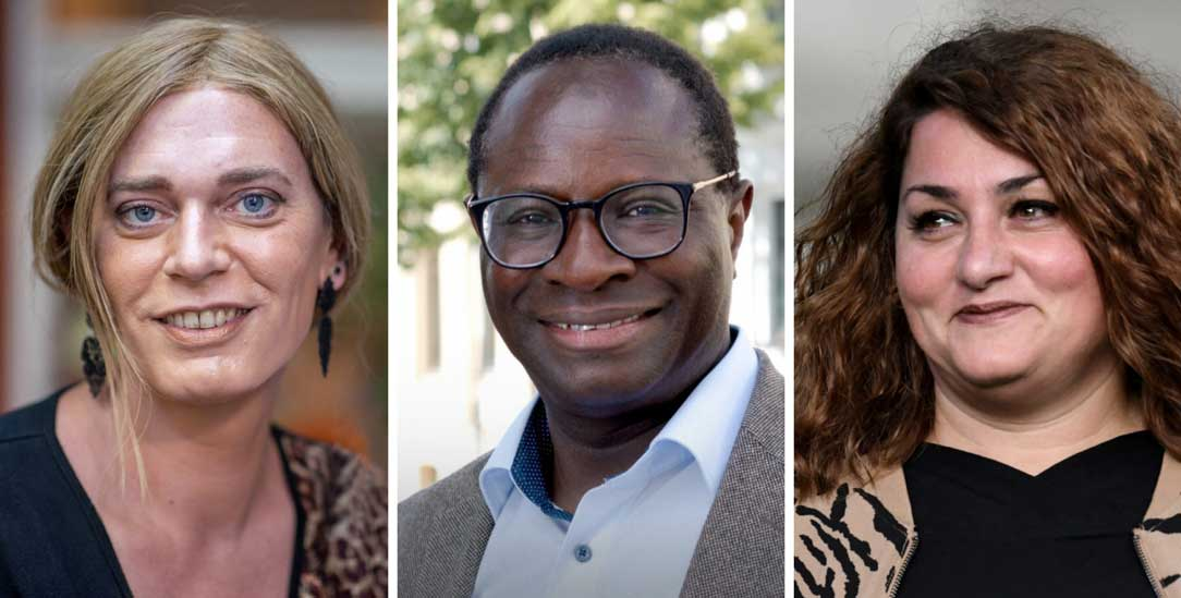 Machen den Bundestag diverser: Tessa Ganser, Karamba Diaby und Lamya Kaddor. (Fotos: PA/DPA/Karmann; Pressebild www.karamba-diaby.de/Karin Böhme; PA/DPA/Eibner-Pressefoto)