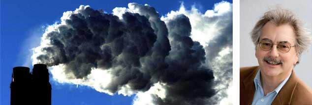 """Der US-Präsident liebt sie heiß und innig: Kohlekraftwerke (links) sollen künftig wieder eine wichtige Rolle in den USA spielen. """"Wir brauchen eine Öko-Wende gegen Geisterfahrer wie Trump"""", sagt Wolfgang Kessler (rechts). (Foto. pa/Giles)"""