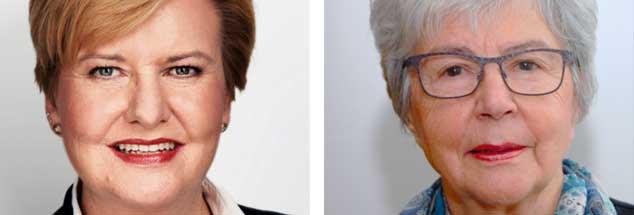 Die SPD-Politikerin Eva Högl (linkes Bild)  ist für die Abschaffung des Paragrafen 219a, Rita Waschbüsch, Vorsitzende von »donum vitae«, ist dagegen (Fotos: SPD Pressebild/Kraehahn; Privat)