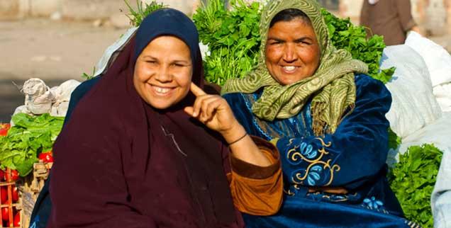 Frauen nahe Gizeh, Ägypten: Die Geschlechterrollen in der arabischen Welt befinden sich im Umbruch. (Foto: pa/Hackenberg)