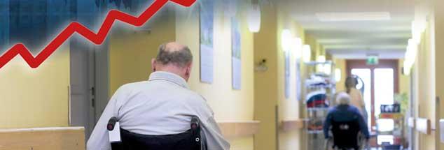 Der Bedarf an Pflege wächst: Investoren kaufen deswegen Heime und hoffen auf hohe Renditen, doch in den Einrichtungen sind die Bedingungen für Bewohner und Pflegekräfte oftmals schlecht (Foto: pa/Wolf; istockphoto/traffic_analyzer)