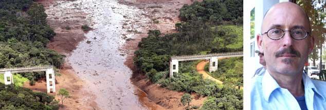 Nach dem Dammbruch in einer Eisenerzrmine in Brumadinho wurden bislang mehr als 60 Tote geborgen, fast 300 Menschen werden noch vermisst.  Der Filmemacher Martin Keßler kritisiert die Zustände im brasilianischen Bergbau, er sagt, die Katastrophe war erwartbar (Fotos: pa/AP/Penner; privat)