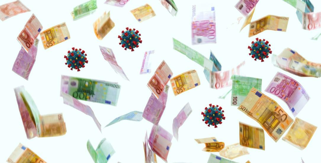 Mehr als eine Billion Euro investiert der deutsche Staat wegen Corona (Foto: TeamDAF/alamy; istockphoto/BlackJack3D)